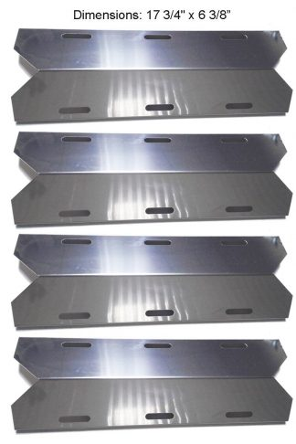 BBQ funland SH1231 (4-pack) Stainless Steel Heat Plate, Heat Shield for Costco Jenn-air, Kirkland, Nexgrill, Sterling Forge, Glen Canyon Gas Grill Models