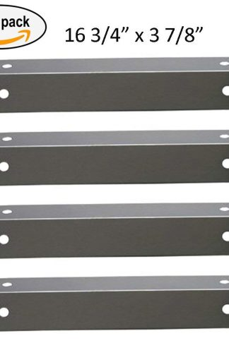 BBQ funland SH7311 (4-pack) Stainless Steel Heat Plate for Charmglow, Brinkmann Models Grills
