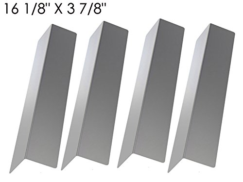 BBQTEK GSF2818K, GSF2818KL, BOND GSF2818KH, 843019U, GBC873W & Master Forge B10LG25 (4-PACK) Stainless Steel Heat Shield