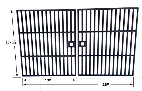 Cast Cooking Grid for Embermatic 4020U, BBQ Grillware GSF2616, 41590 and Arkla Gas Grill Models, Set of 2