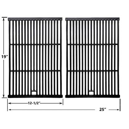 Cast Iron Replacement Cooking Grids For Brinkmann 2200, 2235, 2250, 2300, Barbeques Galore, Bakers and Chefs, Broil-Mate, Charbroil and Charmglow, Gas Models, Set of 2