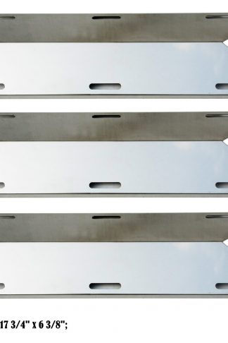 Direct store Parts DP117 (3-pack) Stainless Steel Heat plates Replacement Charmglow,Nexgrill,Jenn-Air,Costco Kirkland,Sterling Forge,Glen Canyon Gas Grill Models (3)