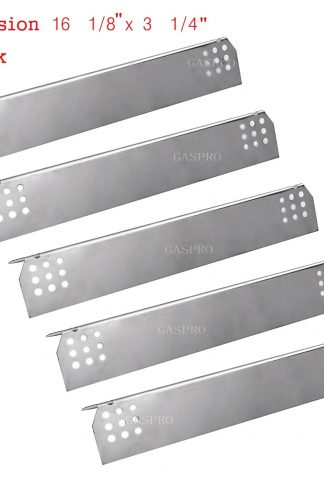GASPRO GP-P451 (5 pack) Stainless Steel Heat Plate, Heat Shield Replacement for Kitchen Aid 720-0745 and Jenn Air 720-0336B, 720-0336C, 720-0709, 720-0709B, 720-0720 Gas Grill(16 1/8X 3 1/4inch)