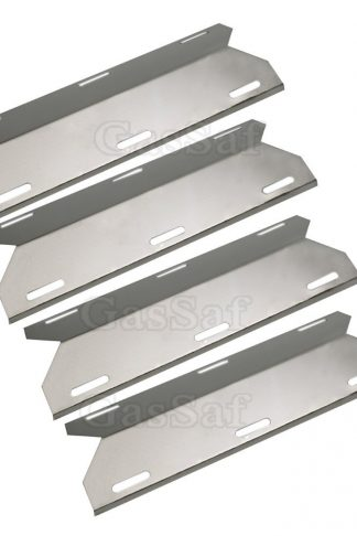 GASSAF (4-pack) Grill Heat Shield Plate Stainless Steel Vaporizor Bar Burner Cover Replacement for Costco Kirland, Jenn-Air, Nexgrill, Sterling Forge, Glen Canyon(GP-001)
