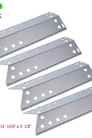 GASSAF JX781 Stainless Steel Heat Plate 4-pack Steel Heat Shield, Heat Tent, Heat Burner Cover, Vaporizor Bar, and Flavorizer Bar for Specific Grill Models Kenmore, Nexgrill, Uberhaus and Other