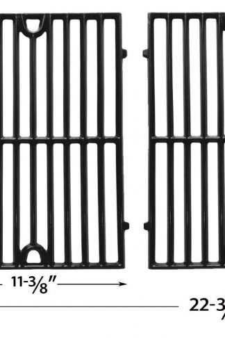 Gloss Cast Iron Cooking Grid for Grand Cafe, Hamilton Beach, Ellipse 2000LP, ProChef, Vermont Castings and Kenmore 141.152270, 141.152271, 141.15337 Gas Grill Models, Set of 2