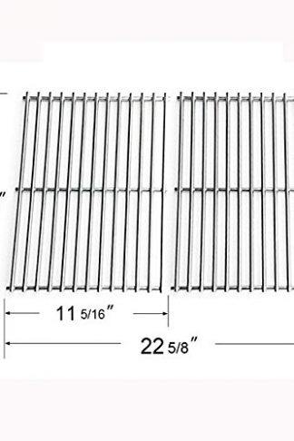 Grill Parts Zone 87523, 87521, 89855, Spirit 200, Spirit 500, Solid Rod Stainless Grates for Weber Gas Models, Aftermarket, Set of 2