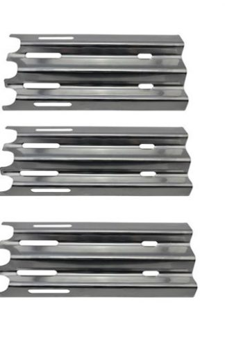 "Grill Valueparts REV081 (3-pack) Stainless Steel Heat Plate/Shield Replacement Parts For Select Vermont Castings VM 400 Vermont Castings and Jenn-Air JA460 Jenn Aire JA580 Jenn Aire Great Outdoors Gas Grill Models (Dimensions: 14 1/2"" X 7 1/4"")"