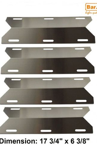 Hisencn Replacement 91231(4 Pack 17 3/4) Stainless Steel Gas Grill Heat Plate for Costco Kirland, Glen Canyon, Jenn-air, Nexgrill, Sterling Forge, Lowes