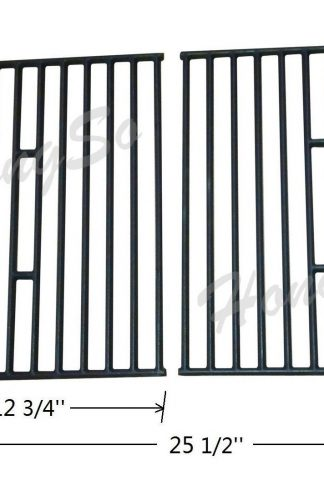 Hongso PCD362 Matt Cast Iron Cooking Grid Replacement for Select Gas Grill Models by Broil King, Broil-Mate and Others, Set of 2