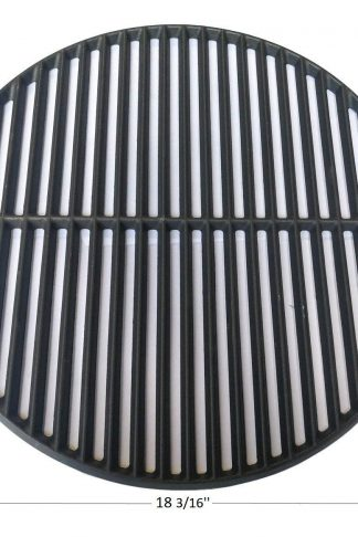 Hongso PCI991 Cast Iron Cooking Grid Grate Replacement for Large Big Green Egg, Vision Grill VGKSS-CC2, B-11N1A1-Y2A Gas Grill, 18 3/16 Inch Diameter