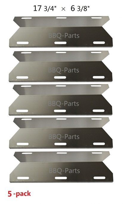 Hongso SPA231 (5-pack) SS BBQ Gas Grill Heat Plate, Heat Shield, Burner Cover, Vaporizor Bar, and Flavorizer Bar for Costco Kirland, Glen Canyon, Jenn-air, Nexgrill, Sterling Forge, Lowes (17 3/4