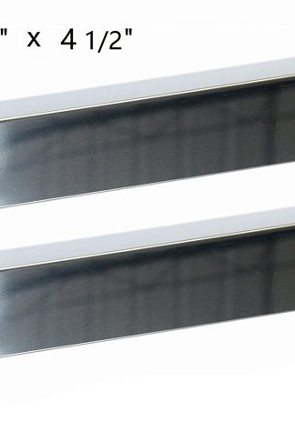 Hongso SPZ811 (2-pack) Stainless Steel Heat Plate Shield, Heat Tent, Burner Cover, Flame Tamer Replacement for Kitchen Aid 720-0787D, 720-0819 Gas Grill Models (16 9/16 x 4 1/2)