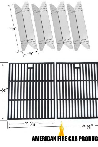 Member's Mark 720-0691A Repair Kit Includes 4 Stainless Heat Plate and Cast Iron Cooking Grids