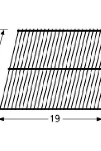 Music City Metals 54501 Porcelain Steel Wire Cooking Grid Replacement for Select Gas Grill Models by Arkla, Charbroil and Others