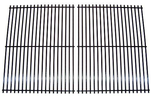 Music City Metals 58572 Porcelain Steel Wire Cooking Grid Replacement for Select North American Outdoors Gas Grill Models, Set of 2