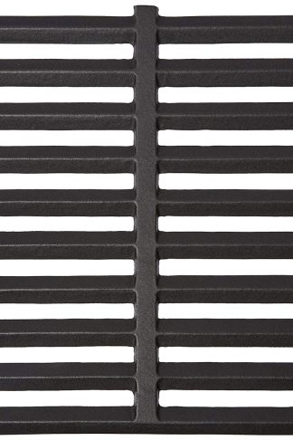 Music City Metals 61602 Matte Cast Iron Cooking Grid Replacement for Select Gas Grill Models by Arkla, Charmglow and Others, Set of 2