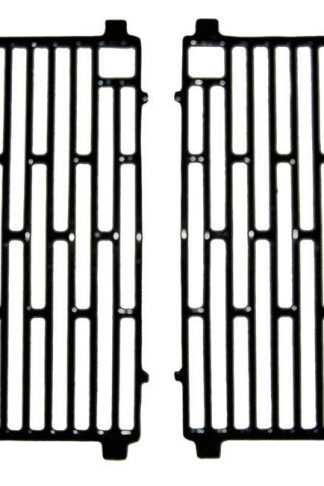 Music City Metals 61702 Gloss Cast Iron Cooking Grid Replacement for Select Gas Grill Models by Arkla, Broil King and Others, Set of 2