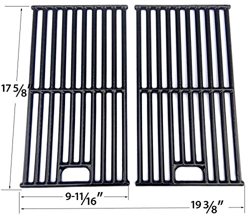 Porcelain Cast Grates For Master Forge SH3118B, 314076 Gas Grill Models, Set of 2