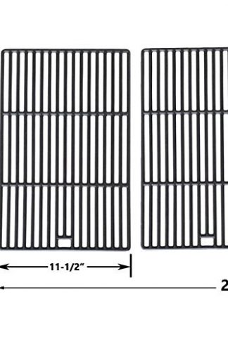 Porcelain Cast Iron Cooking Grid for Arkla 4420U6, 4451K, 4451KN, U5679, 4460U6 and Charmglow 0903, 0905 0905-3, 0906, 0925, 0945, 0968, 0969, 0988, 0989, 0990, 10905 Gas Grill Models, Set of 2