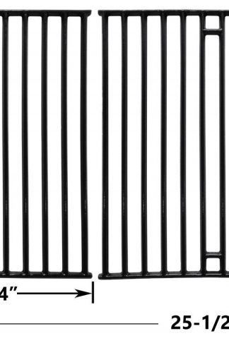 Porcelain Cast Iron Cooking Grid for Broil-King 945584, Broil-Mate 115554, 115557, Huntington, Sterling 1155-54, 1155-57 and Silver Chef Gas Grill Models, Set of 2