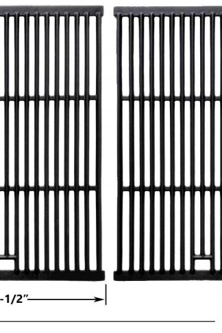 Porcelain Cast Iron Cooking Grid for Grand Hall, GR2039201-BC-00, Sterling and Brinkmann 2300, 6345, 6345-0, 810-2235-0, 810-2250-0, 810-2310-1, 810-2320-B, 810-2400-0, Gas Grill Models, Set of 2