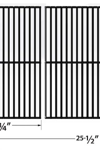 Porcelain Steel Cooking Grid Replacement for Charbroil 463248108, DCS 27, 27 Series, 27ABQ, Master Chef, and Kenmore 16644, 415.16042010, 415.16644900 Gas Grill Models, Set of 2
