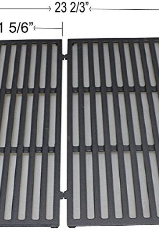 "REV38CG Enamel Cast Iron Cooking Grates For Weber Spirit 300 Series Gas Grills (With Front Mounted Control Panels) (Dims: 17 1/2"" X 11 5/6"" for each unit, 17 1/2"" D X 23 2/3"" for 2 units)"