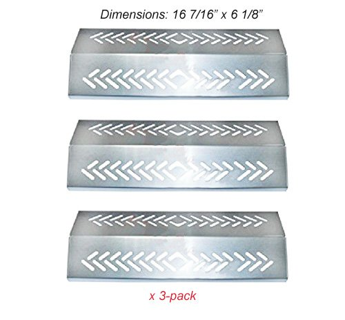 SH4641(3-pack) Stainless Steel Heat Plate, Heat Shield Replacement for Select Gas Grill Models By Broil-mate, Grillpro, Sterling