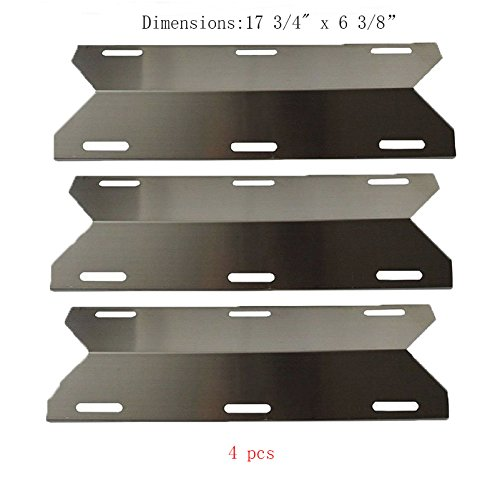 SP1231 (3-pack) Stainless Steel Heat Plate, Heat Shield, Heat Tent for Costco Kirland, Glen Canyon, Jenn-air, Nexgrill, Sterling Forge, Lowes Model Grills