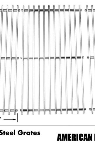 Solid Stainless Cooking Grid for Jenn Air 720-0709, 720-0727, 730-0709, 720-0826, Y0660 Gas Models, Set of 3