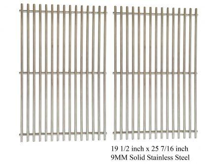 Stainless Grates For DCS 27DBQ, BGA27-BQR, 27DBR, 27FSBQ & NSG3902BB, Wellington Gas Models, Set of 2