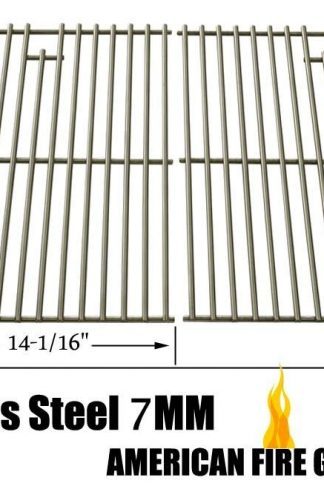 Stainless Steel Cooking Grid for Aussie 6703C8FKK1, 6804S8-S11, 6804T8KSS1, 6804T8UK91, Brinkmann 810-9490-F, 810-8425-S, 810-9490-0 and Grill Chef SS72B Gas Grill Models, Set of 2