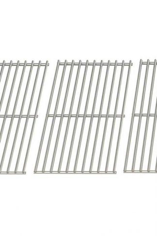 Stainless Steel Cooking Grid for BBQ Galore XC03WN, XG3TBWN, Outdoor Gourmet B070E4-A, BQ06W1B & Academy Sports B070E4-A, BQ06W1B Gas Grill Models, Set of 3