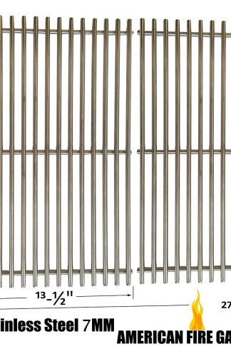 Stainless Steel Cooking Grid for Brinkmann 810-9490-0, Grill Master 720-0697, Nexgrill 720-0697 and Uniflame GBC091W, GBC940WIR, GBC956W1NG-C, GBC981W Gas Grill Models, Set of 2