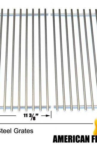 Stainless Steel Cooking Grid for Grand Cafe, Hamilton Beach, ProChef, Vermont Castings, and Ellipse 2000LP, Kenmore 2104, 2105, 2107, 2108, Gas Grill Models, Set of 2