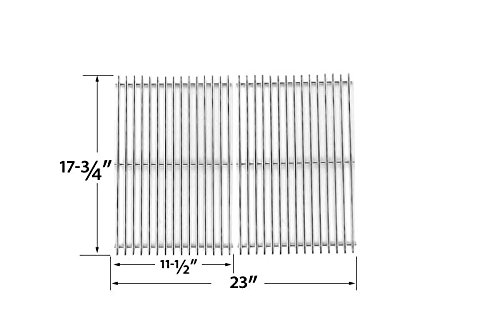 Stainless Steel Cooking Grid for Grillware GSC2418, 164826, 102056, Charmglow, Arkla, Turco 1010 and Perfect Flame 13133, 225152, 61701, 2518SL, SLG2007A Gas Grill Models, Set of 2