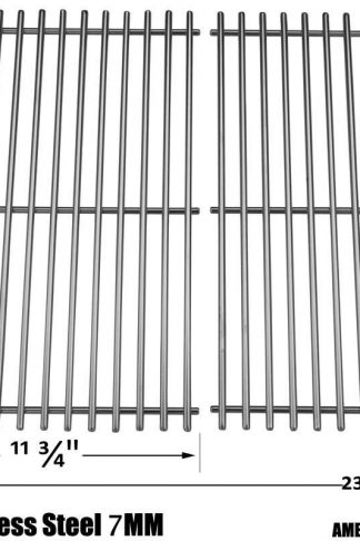 Stainless Steel Cooking Grids For Brinkmann 2500, 2500 pro series, 2600, 2700, 2720, 4425, 810-2705-1, 810-2720 & Members Mark Gas Grill Models, Set of 2