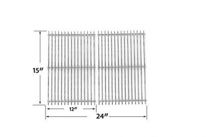 Stainless Steel Replacement Cooking Grid for Charmglow, Charbroil , Kenmore, Sunbeam, Arkla, Broil King, Coleman and Jacuzzi JC-4010, JC-4020, Gas Grill Models, Set of 2