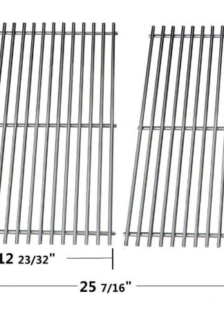 "Stainless Steel Rod Cooking Grid 7528 for Weber Genesis E and S Series Grills (Dims: 19 1/2 X 12 23/32"" for each unit, 19 1/2 X 25 7/16"" for 2 units)"