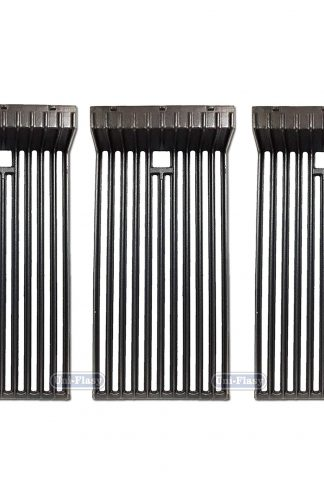 Uniflasy 3-Pack Heavy Duty Matte Porcelain Coated Cast Iron Cooking Grid Grates Replacement Parts for Broilmaster G-3, P3, S3, U3 & Thermos 56036T Gas Grills