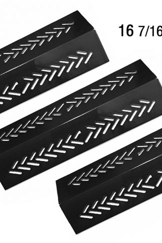 Vicool Porcelain Steel Heat Plate, Heat Shield, Heat Tent, Burner Cover, Vaporizor Bar and Flavorizer Bar Replacement for Select Gas Grill Models by Broil-Mate, GrillPro, Sterling, etc, hyJ464A (3-pack)