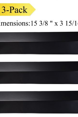 Votenli P9231A(3-Pack) Porcelain Steel Heat Plate, Heat Shield, Heat Tent, Heat Diffuser for Aussie, Brinkmann, Uniflame, Charmglow, Grill King, Lowes Model Grills