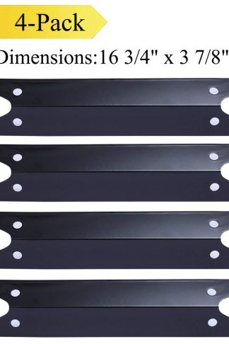 Votenli P9731A (4-pack) Porcelain Steel Heat Plate, Heat Shield, Heat Tent Diffuser Deflector Replacement for Select Brinkmann, Charmglow Gas Grill Models