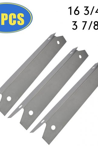 "XHome Grill Heat Plate Stainless Steel Heat Tent Grill Replacement Parts for Brinkmann, Charmglow, Grill Chef, Backyard Classic, Members Mark, 14 1/4 Grill Heat Tent Shield (16 3/4"" x 3 7/8"") (3 Pack)"