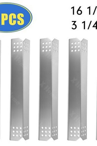"XHome Replacement Kitchen Aid Grill Heat Plate Parts, 5 Pack Stainless Steel Heat Shield, Heat Tent Replacement for Kitchen Aid 720-0745 and Jenn Air 720-0336B, 720-0336C Models (16 1/8"" x 3 1/4"")"