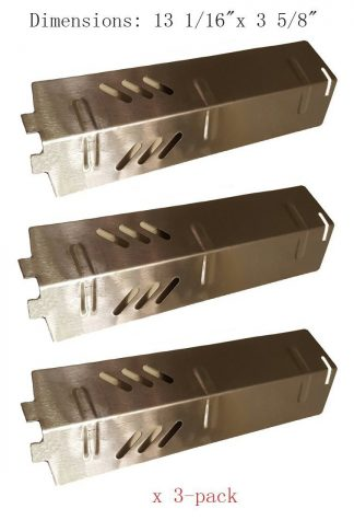 ZLjiont 3-pack Stainless Steel Heat Plate, Burner Cover, Flavorizer Bar Replacement for Gas Grill Model Backyard Grill BY13-101-001-11, BY14-101-001-01, BY16-101-002-05, Uniflame: GBC1329W, GBC1403W