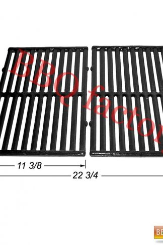 bbq factory JGX252 Replacement Cast Iron Cooking Grid Porcelain coated Set of 2 for Select Gas Grill Models By Kenmore, Ellipse, ProChef, Vermont Castings, and Others