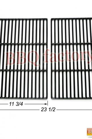 bbq factory JGX662 Replacement Cast Iron Cooking Grid Porcelain coated Set of 2 for Select Gas Grill Models By Brinkman,Grill Chef, Grill Zone Gas Grill and Others