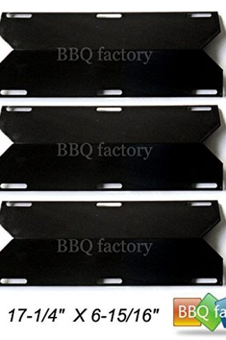 bbq factory Replacement Porcelain Steel BBQ Gas Grill Heat Plate / Heat Shield JPX241 (3-pack) Select Gas Grill Models By Charmglow, Nexgrill, Costco ,Sterling Forge, and Others